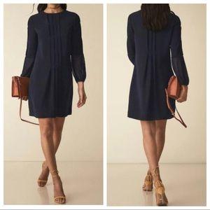 Reiss Delfina Pintuck Dress Navy Size 0